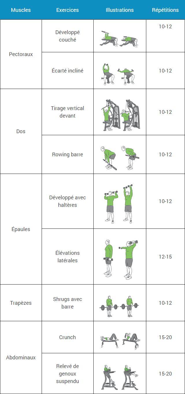 Assez Les 25 meilleures idées de la catégorie Programme musculation sur  AE75
