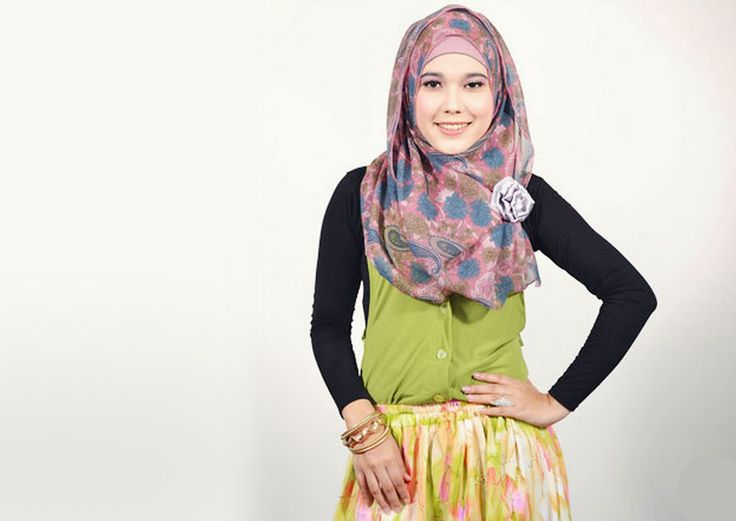 tutorial hijab pashmina sederhana
