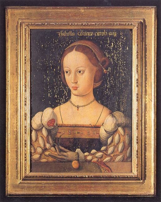 Isabella of Portugal (1503-1539), wife of Charles V by Master of Saint Auta (active in the early XVI century)