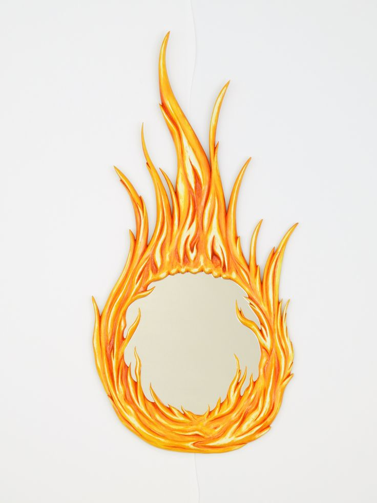Flame mirror on our gallery wall...