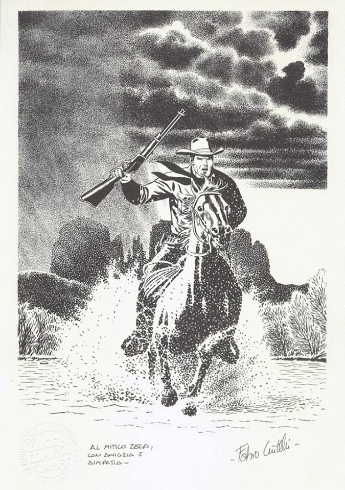 Tex Willer a cavalo na fantástica arte de Fabio Civitelli