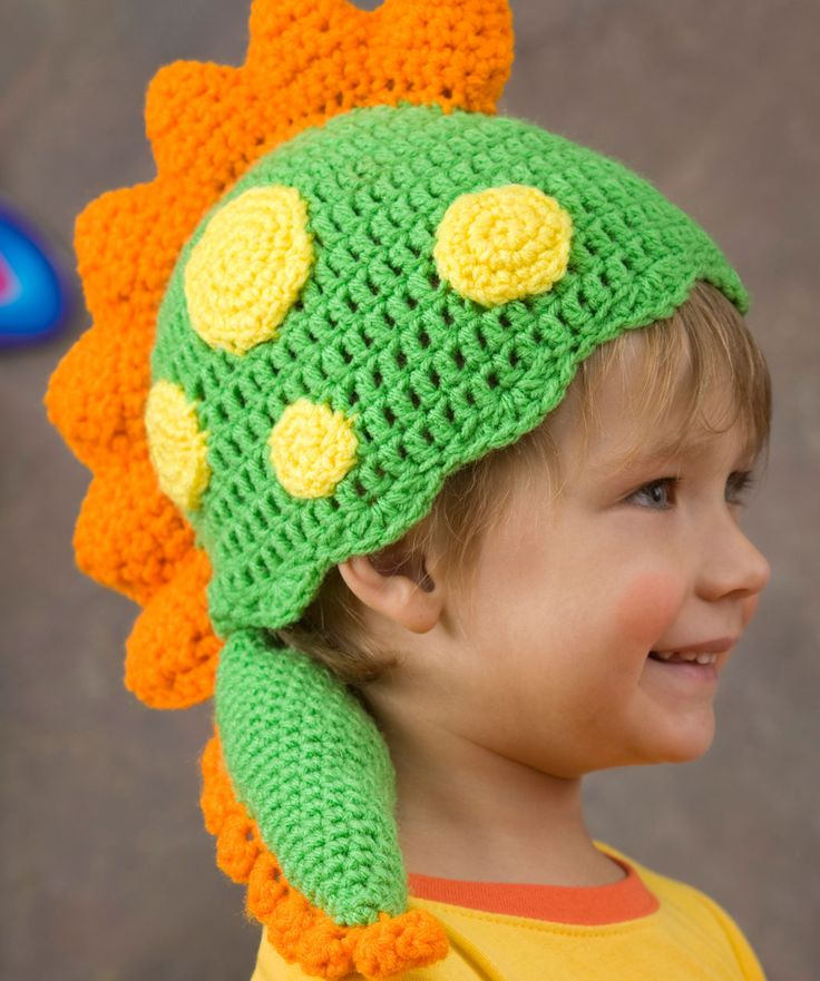 Knitting Pattern Dragon Hat : Dragon Hat free crochet pattern by Red Heart yarns # ...