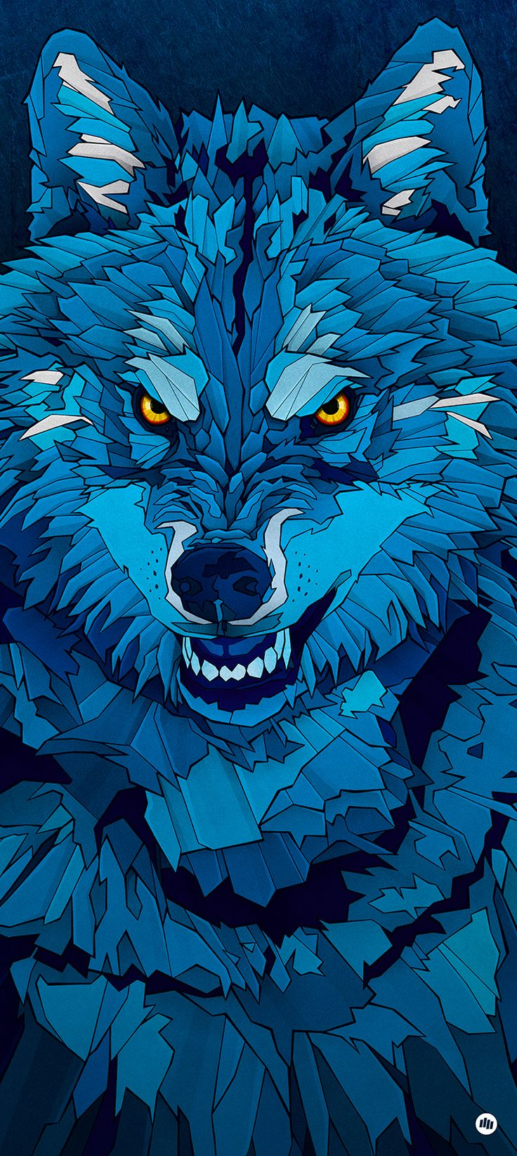 """My """"Blue Wolf"""" illustration was the image for the Hurricane/Southside Festival, held in Germany last year."""