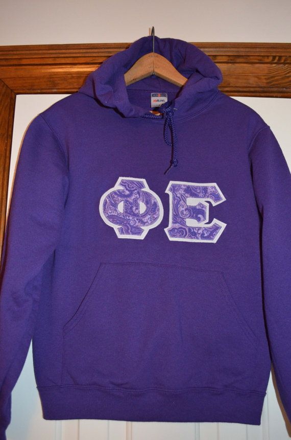 Sorority or Fraternity Letters Hoodie on Etsy, $27.00