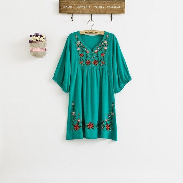 Floral Embroidered Summer Boho Blouse/Dress