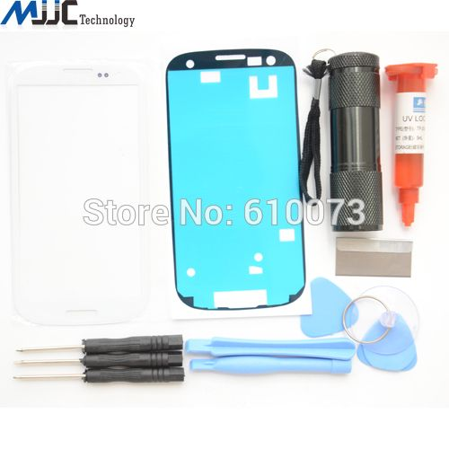 For Samsung Galaxy S3 i9305 i9300 Screen Replacement Front Glass Lens Kit White Tools Uv Glue&Light Adhesive