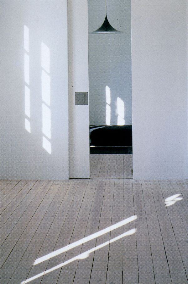 I want a sliding door in my life...Interior design: Minimalism - bedroom