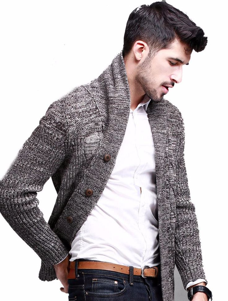 Men's Cardigans - Fall / Winter 2016 size Cross Shoulder(cm) Chest Width(cm) Body Length(cm) Sleeve Length(cm) M 45 98 66 62 L 46 100 68 63 XL 47 102 70 64 XXL 48 104 72 65