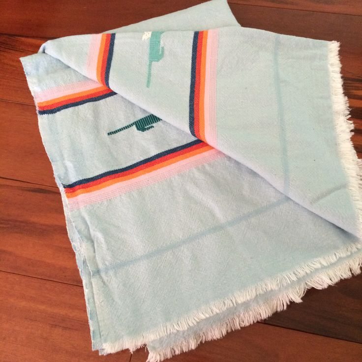 Vintage blue Southwestern tablecloth, thunderbird, Southwestern decor, boho tablecloth by Callaina on Etsy
