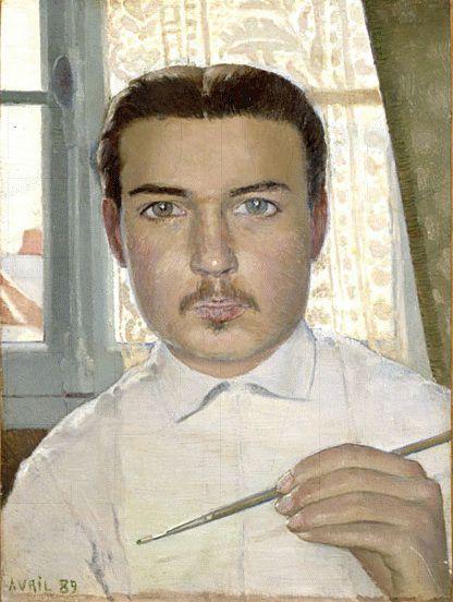 Maurice Denis    Self-portrait at 18 years, c. 1889    Oil on canvas, 33 x 25 cm    Musée départemental du Prieuré, Saint-Germain-en-Laye, France
