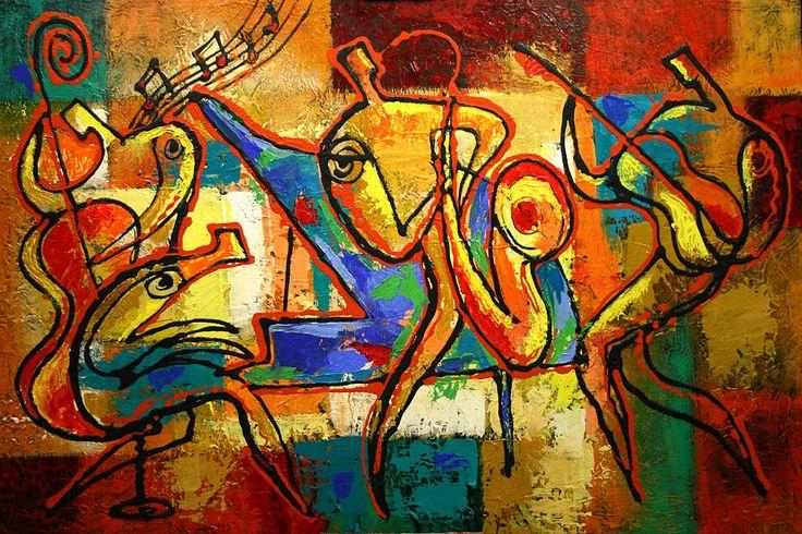 Soul Jazz Painting by Leon Zernitsky - Soul Jazz Fine Art Prints ...