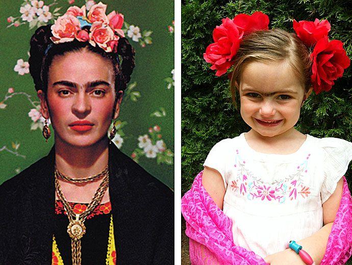 Viva Frida Kahlo {{arthistorymom}.    LOVE this halloween costume!  diy costume