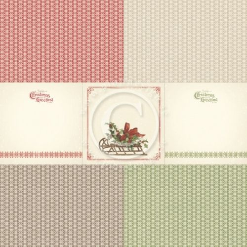 """PION DESIGN - MEMORY NOTES PD4833 - CHRISTMAS IN NORWAY 3                                                                    TOSIDIG MØNSTERARKi serien""""MEMORY NOTES""""en ny kolleksjon fraPION DESIGN.Arket måler ca 30,5cm x 30,5cm. Memory Notes - a collection intended to make memory keeping easier - Different designs in size 4x4"""", 4x6"""" and 3x4"""" - Pa..."""