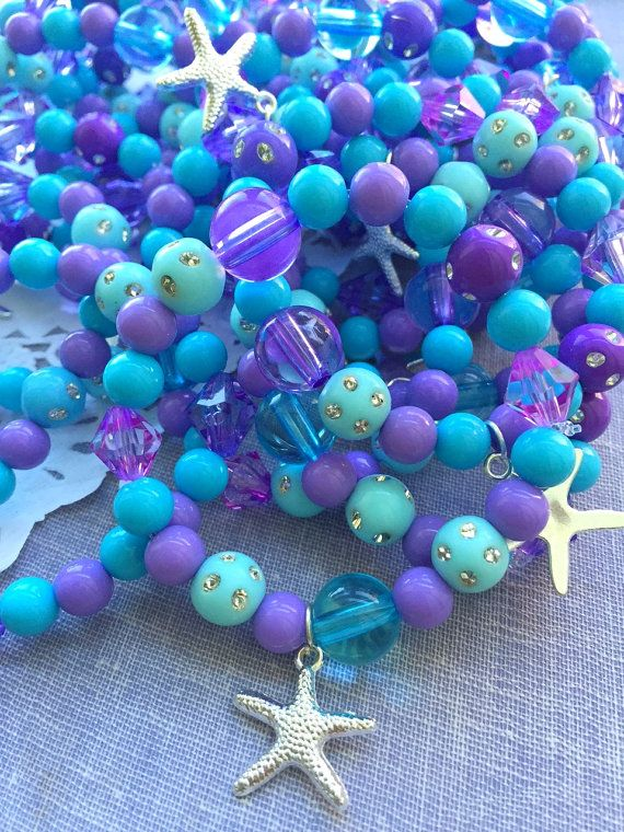 Hey, I found this really awesome Etsy listing at https://www.etsy.com/listing/255345388/starfish-mermaid-kids-stretchy-bracelet