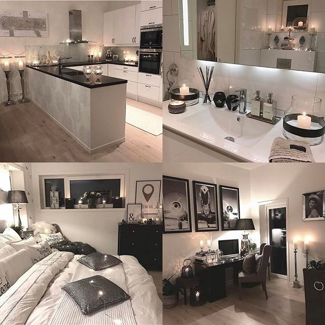 Interior white and black