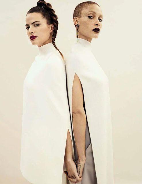 Cameron Russell e Adwoa Aboah - Vogue Espanha Abril 2017
