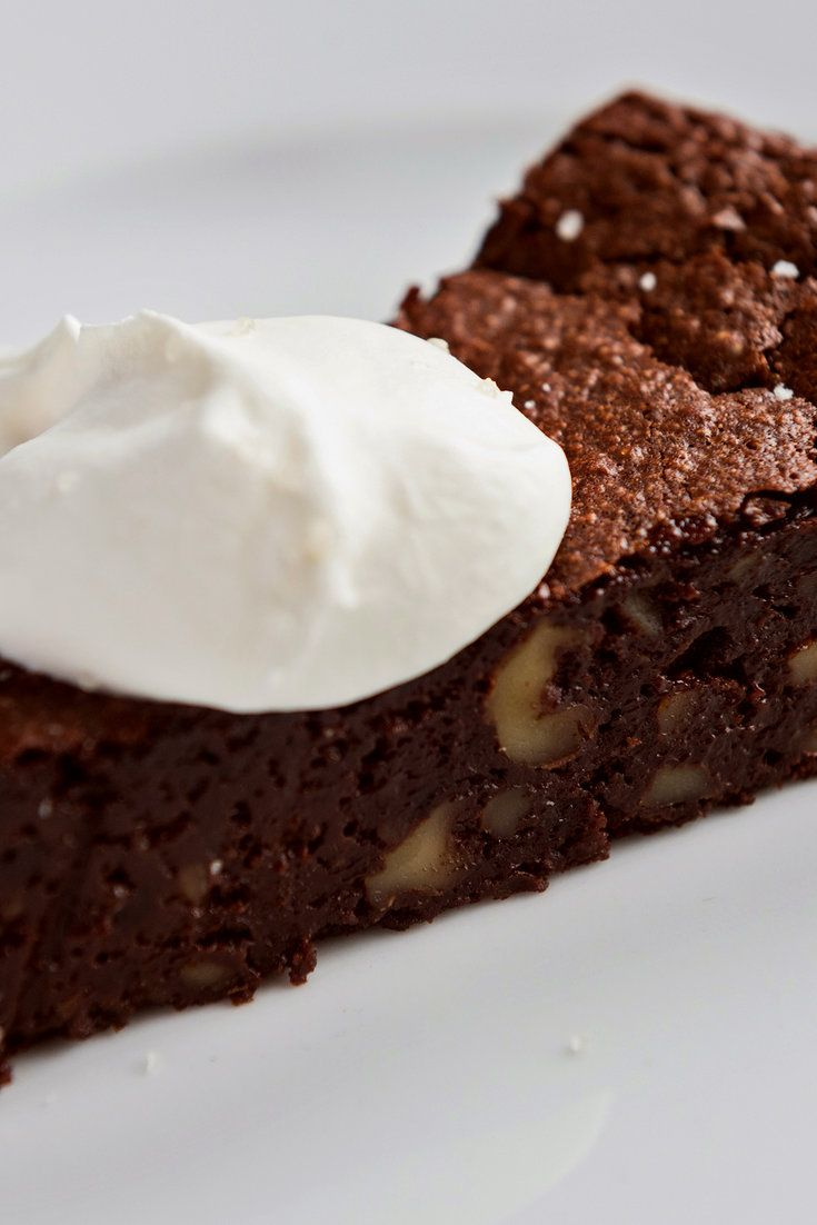 The dark and bittersweet chocolate-walnut torta. (Photo: Evan Sung for The New York Times)