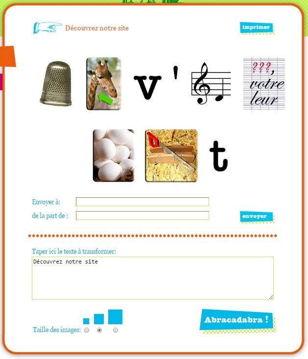 Un site très ludique pour générer simplement des rébus pour le texte de votre choix !