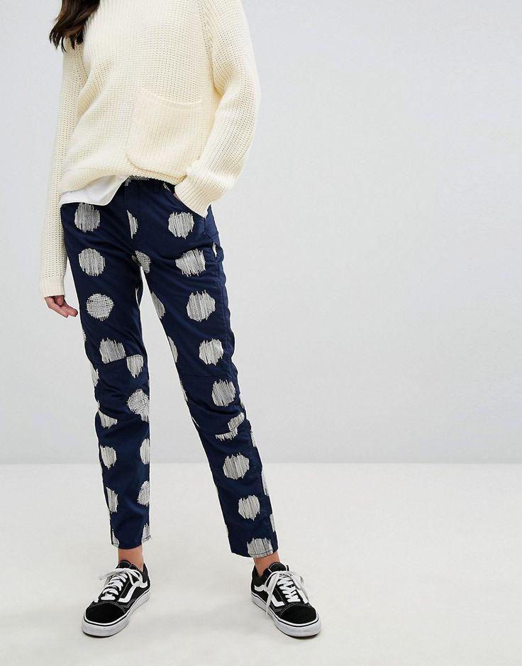 G-Star 5622 ElwoodX 25 Pharrell Jean in Kimono Print - Blue