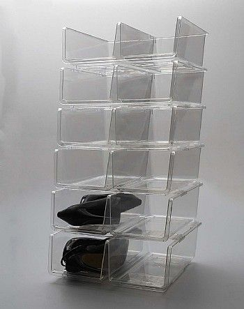 Stackable Shoe Bin Storage : shoe bin storage  - Aquiesqueretaro.Com