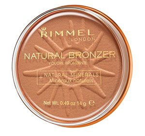 Rimmel Bronzer great for sunkissed glow. apply to cheeks and around the edge of face to make your eyes stand out.