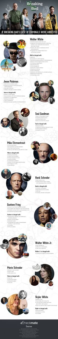 If Breaking Bad's characters were arrested....here's their charges...