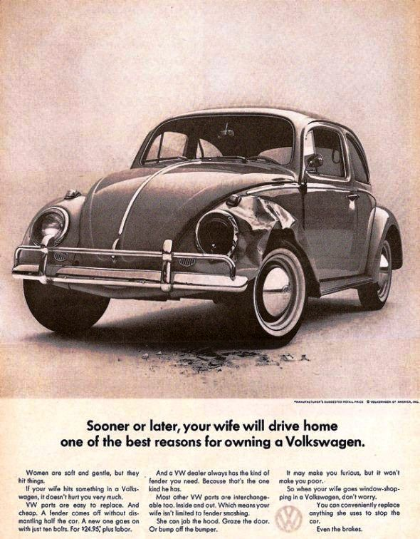 cars dont  crashes women      vw ad vintage ads pinterest cars