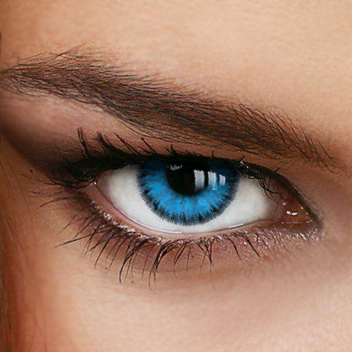 Lentilles de Contact de Couleur – Bleu – *OCEAN BLUE* de «LuxDelux®»: Dual Tone Design Hydrophilie: (HEMA/EGDMA/MA Polymer 58% - Eau 42%)…