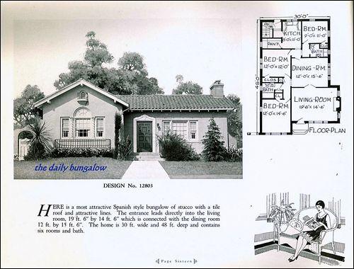 2370 best 1800 39 s 1940 39 s house plans images on pinterest for Spanish bungalow floor plans