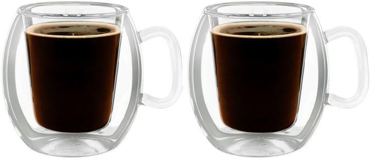 Luigi Bormioli Thermic Double-Wall Insulated Coffee Mugs (Set of 2) - $19.99