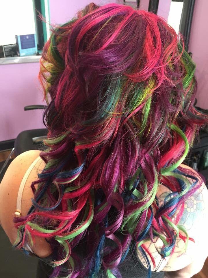 Rainbow Hair by Michelle (goldwell elumen and pravana vivids)
