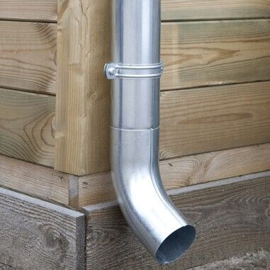 Including Ø 90 mm round downpipe, pipe clips and offset bends!