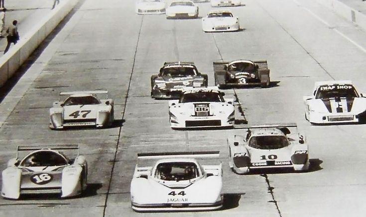 (44) Bob Tullius/Bill Adam - Jaguar XJR-5 - Group 44 - (16) Marty Hinze/Randy Lanier/Terry Wolters - March 82G Chevrolet - Hinze Fencing - (10) Ralph Kent-Cooke/Jim Adams/Josele Garza - Lola T600 Chevrolet - Cooke Racing - (47) Bill Whittington - March 83G Chevrolet - Pepe Romero - (86) Hurley Haywood/Al Holbert - Porsche 935/80 - Bayside Disposal Racing - 12 Hours of Sebring, The Coca-Cola Classic - 1983 International Motor Sport Association, round 3 - IMSA GTO, round 3 - IMSA GTU, round 3