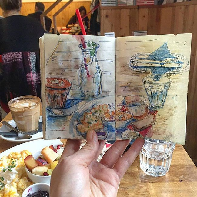 This Artist Sketches The Places She Goes To Every Day