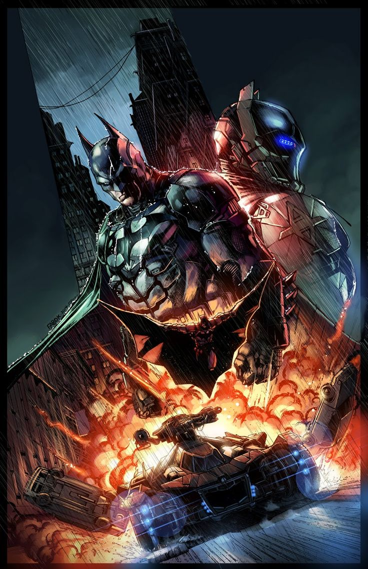 Batman: Arkham Knight collector's edition art by Jason Fabok