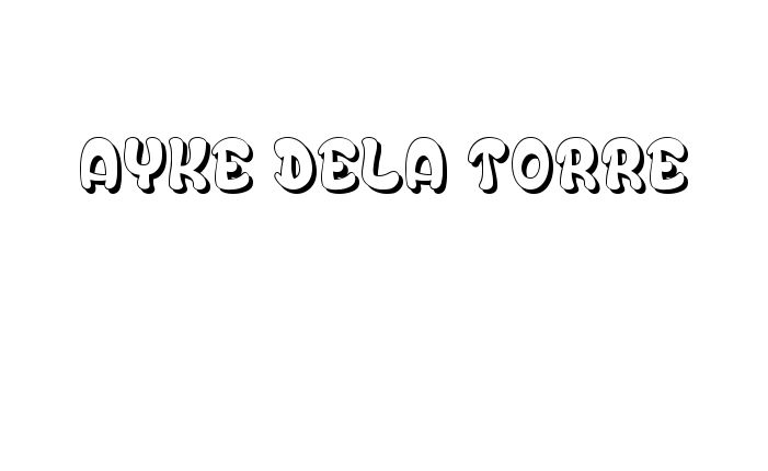 Tattoo Name Ayke Dela Torre using the font style Bubble Soap Regular