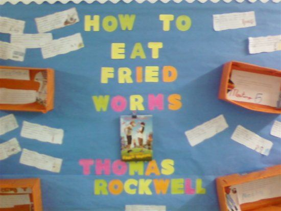 52 best how to eat fried worms book images on pinterest worms our class created this bulletin board as a culminating activity for how to eat fried worms for each book club meeting students worked in teams to write a ccuart Choice Image