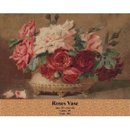 Counted Cross Stitch Set - Roses Vase