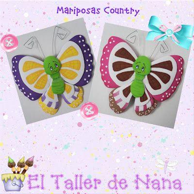 El Taller de Nana: Mariposas en Foamy: Workshop, Mariposas Mariquitas Libelulas, Manualidades Goma Eva Foami, Butterflies In, Butterflies, Nana, Foamy Mariposas, Workshop