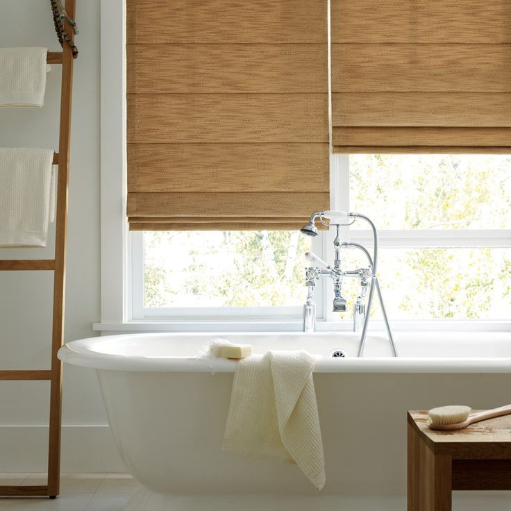 20 best bathroom window treatments images on pinterest for Blinds bathroom window