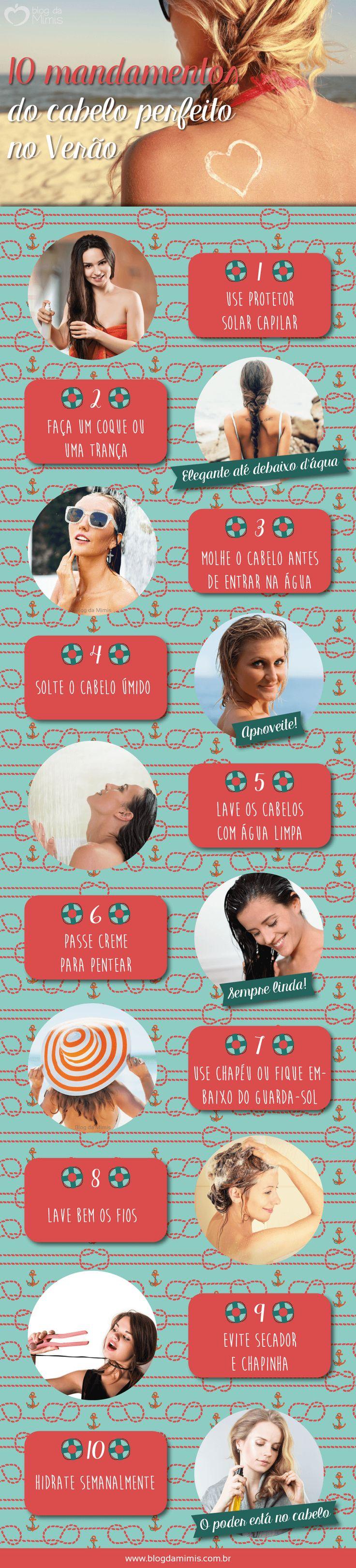 10 mandamentos do cabelo perfeito no Verão - Blog da Mimis - Afinal, como proteger os cabelos nessa época do ano, em que os fios ficam mais expostos ao sol, ao mar e ao cloro?