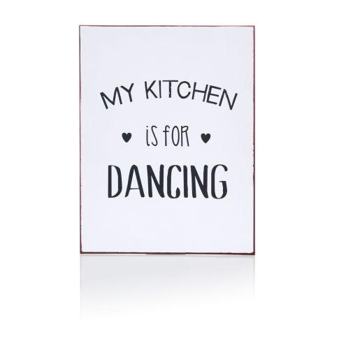 """Metallschild, """"MY KITCHEN is for DANCING"""", impressionen, 16 euro"""