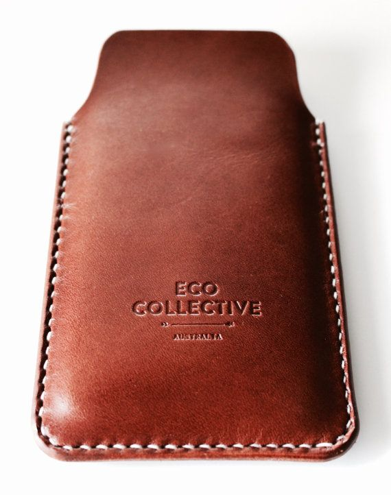 iPhone 6 plus case/sleeve/cover leather brown by EcoCollectiveAus