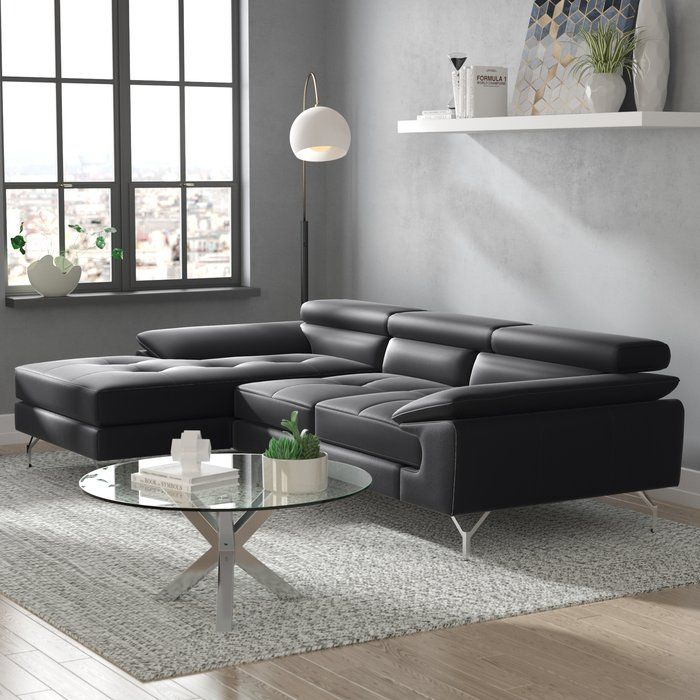 Courtdale Leather Sectional Leather Sectional Living Room