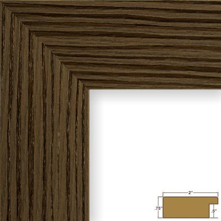 Craig Frames Bauhaus 200, Modern Brown Oak Picture Frame, 8.5x11 Inch
