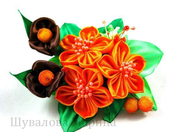 Картинки по запросу Окрашенные цветы из органзы Marina Shuvalova