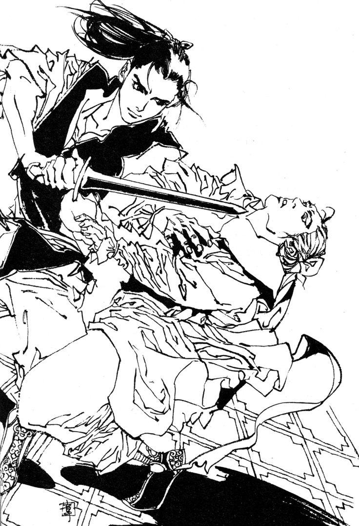 延王 尚隆 Enou Shouryu、斡由 Atsuyu :『東の海神 西の滄海』十二国記 Juuni Kokki / Twelve Kingdoms - art by Yamada Akihiro 山田章博