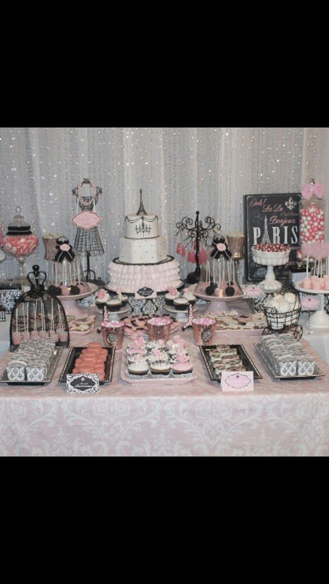 Paris Theme Baby Shower.