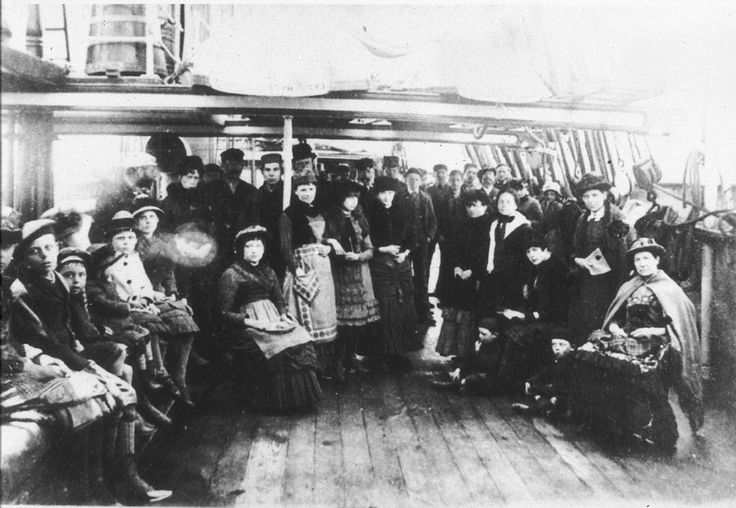 """Migrants from England to Australia aboard the """"Eaton Hall"""". Find more detailed information about this photograph: http://www.acmssearch.sl.nsw.gov.au/search/itemDetailPaged.cgi?itemID=390111 From the collection of the State Library of New South Wales: http://www.sl.nsw.gov.au"""