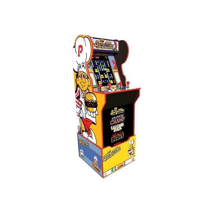 Join Chef Peter Pepper In A Race To Build Burgers And Avoid Evil Foods In This Arcade1Up Burgertime Arcade Game. A Life-Size Version Of The Popular 80S Arcade Game, This Console Features A Light-Up Marquee, Riser And Real-Feel Controls For A Nostalgic Playing Experience. Simple Plug-And-Play Connectivity With A Standard Ac Outlet Offers Immediate Play. This Arcade1Up Burgertime Features Classic Burgertime, Karate Champ, Bad Dudes And Caveman Ninja Titles To Expand Upon The Fun For Memorable Nigh